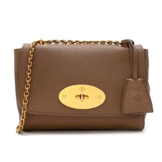 Mulberry Brown Grained Leather Lily Shoulder Bag