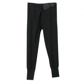 Ann Demeulemeester Black Stretch Crepe Trousers