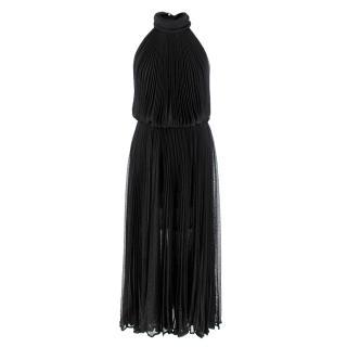 Maria Lucia Hohan Black Lurex Knit Pleated Dress