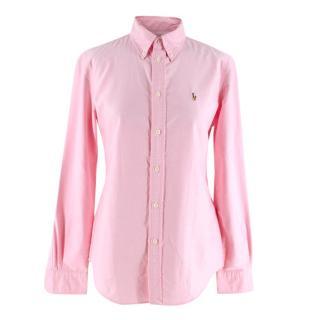 Ralph Lauren Custom Fit Pink Cotton Oxford Shirt