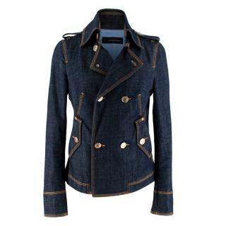 DSquared Indigo Denim Double Breasted Jacket