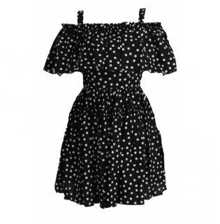 Dolce & Gabbana Black Polka Dot Summer Dress
