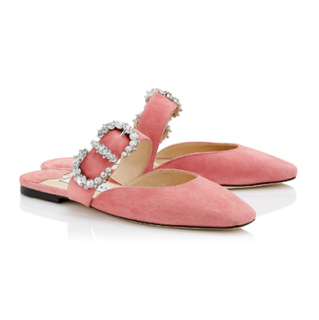 Jimmy Choo Candyfloss Suede Gee Flats