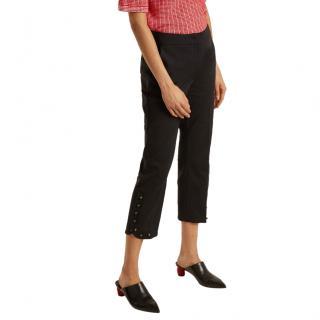 Sportmax Black Embellished Eremi Crop Pants