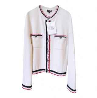 Chanel 2019 Jewel Buttons Tweed Trimmed Jacket