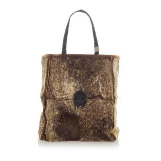 Chanel Vintage Rabbit Fur CC Tote Bag