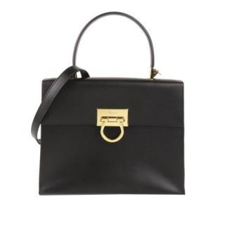 Ferragamo Gancini Leather Top Handle Bag