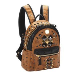 MCM Monogram Studded Leather Backpack