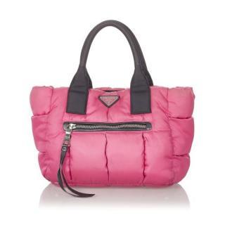 Prada Pink Nylon Bomber Handbag