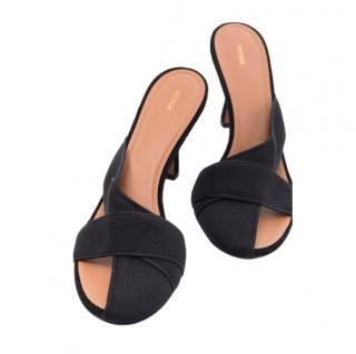 NEOUS Black Ogma 80 strap sandals