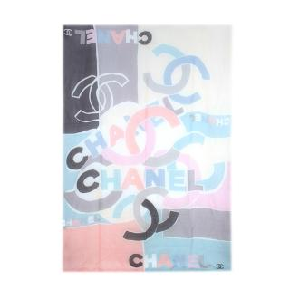 Chanel Pastel CC Cashmere Scarf