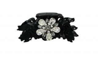 Dolce & Gabbana Black Lace & Crystal Hair Claw