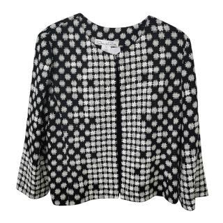 Oscar De La Renta Silk Black & White Jacket