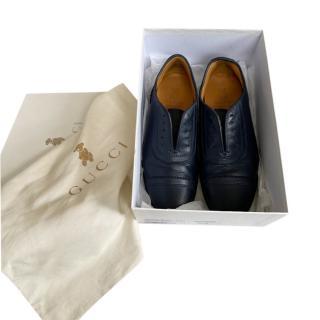 Gucci Kids 31 Blue Smart Shoes