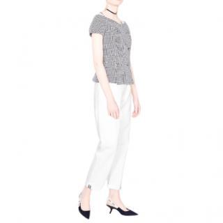 Dior White Denim Boyfriend Jeans