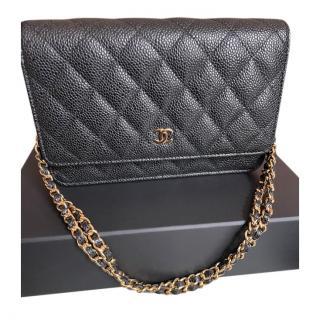 Chanel Black Caviar Calfskin Wallet on Chain