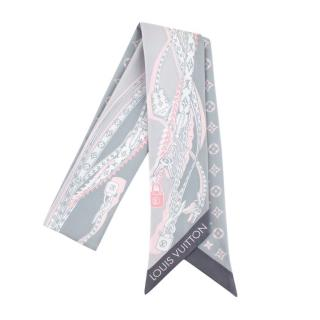 Louis Vuitton Grey Monogram Silk Padlock Bandeau