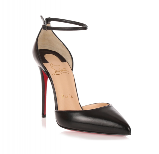 Christian Louboutin Uptown 100 black leather pumps