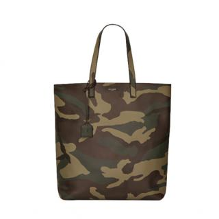 Saint Laurent camouflage print shopping tote