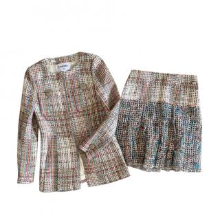 Chanel Paris/Cuba Multicoloured Tweed Skirt & Jacket