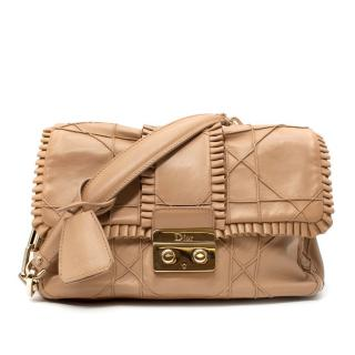 Dior Nude Leather Cannage Flap Bag
