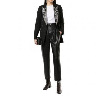 Amiri Embroidered Double Breasted Tuxedo Jacket
