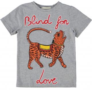 Gucci Kid's 4Y Grey Blind For Love T-Shirt