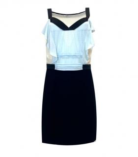 Miu Miu Colourblock Sleeveless Silk Dress