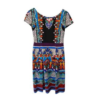 Alberta Ferretti Multicoloured Printed A-Line Dress