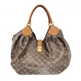 Louis Vuitton Alligator Trim Monogram XL Hobo Tote Bag