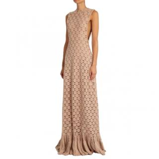 Ryan Roche Woven Cashmere Bambi Dress