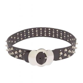 Chopova Lowena Studded Black Leather Belt - Size XS/S