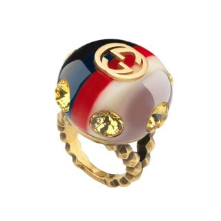 Gucci Sylvie vintage web ring - Size 50