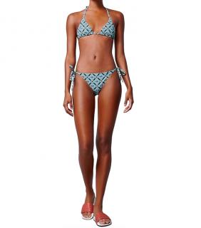 Bottega Veneta Blue Dot Motif Triangle Bikini