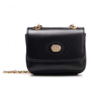Gucci Black Marina Mini GG Chain Shoulder Bag