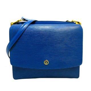 Louis Vuitton Epi Leather Blue Grenelle Shoulder Bag