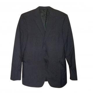 Z Zegna Striped Wool Single Breasted Blazer