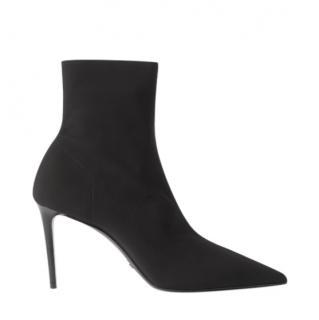 Prada Black Stretch Sock Ankle Boots