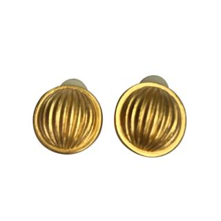 Givenchy Gold Tone Vintage Earrings