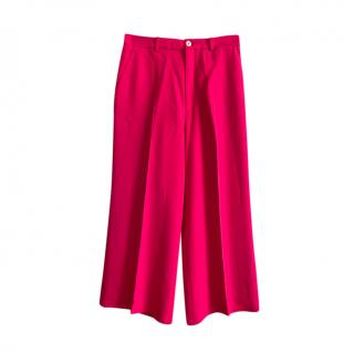 Gucci Pink Wide Leg Tailored Pants