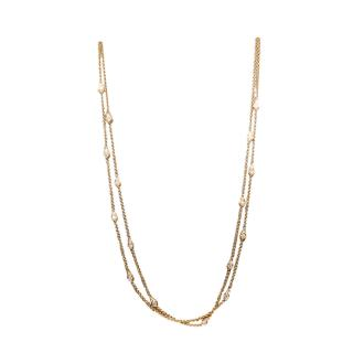 William & Son London Collection 18ct Rose Gold Diamond Chain Necklace