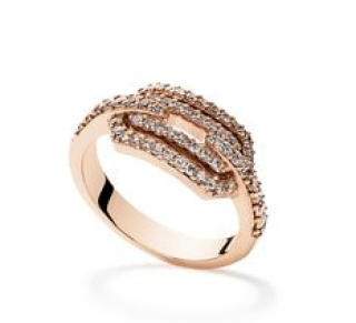William & Son 18ct Rose Gold London Collection Diamond Ring