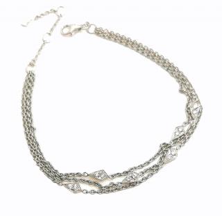 William & Son 18ct White Gold Diamond Set Chain Bracelet
