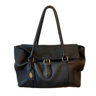 Fendi Selleria Black Vintage Shoulder Bag