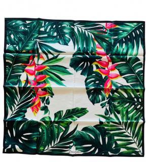Dolce & Gabbana Tropical Banana Leaf Print Silk Scarf/Neck Tie