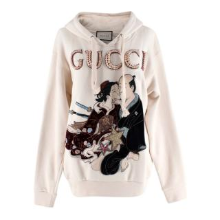 Gucci Japanese Embroidered Pearl Logo Hoodie