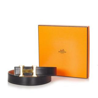 Hermes Reversible Leather Constance Belt - Size 70