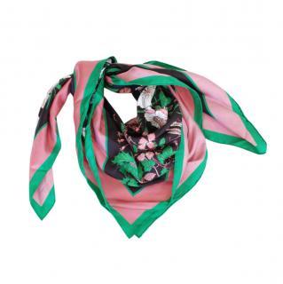 Gucci Limited Edition Floral Print Silk Scarf