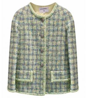 Chanel Mint Green Lesage Tweed Jacket