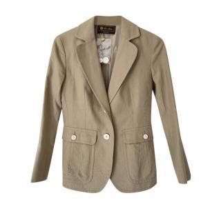Loro Piana Cotton & Linen Summer Weight Tailored Jacket